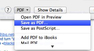 Print/pdf/Save as Pdf - Mac