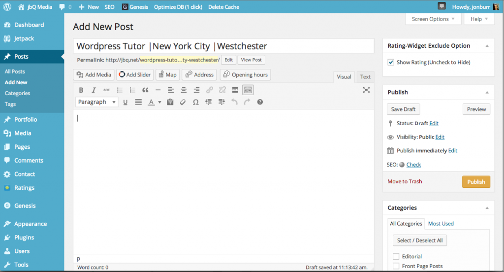 Wordpress Tutor Dashboard