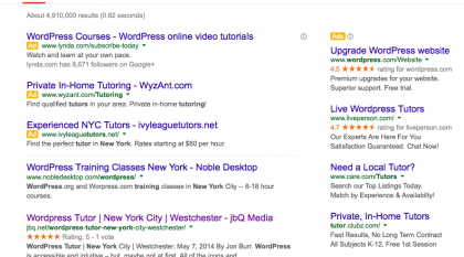 jbQ Media comes up high in Google Search Results