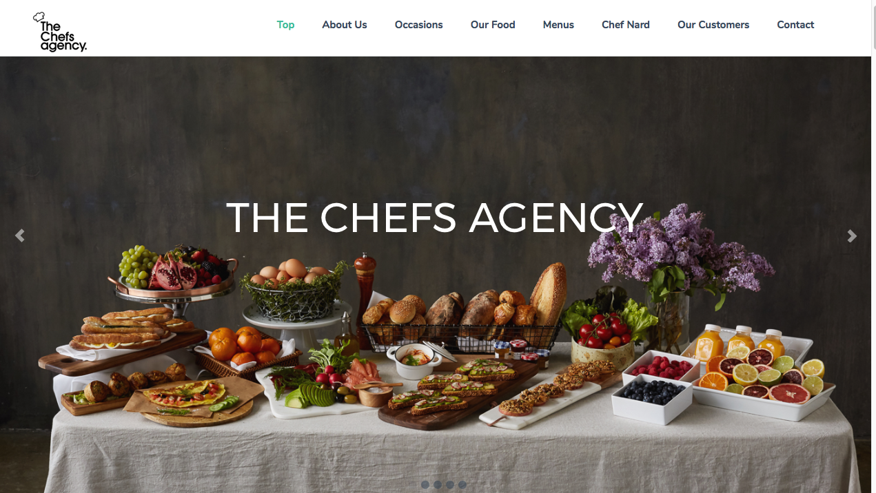 The Chefs Agency Website