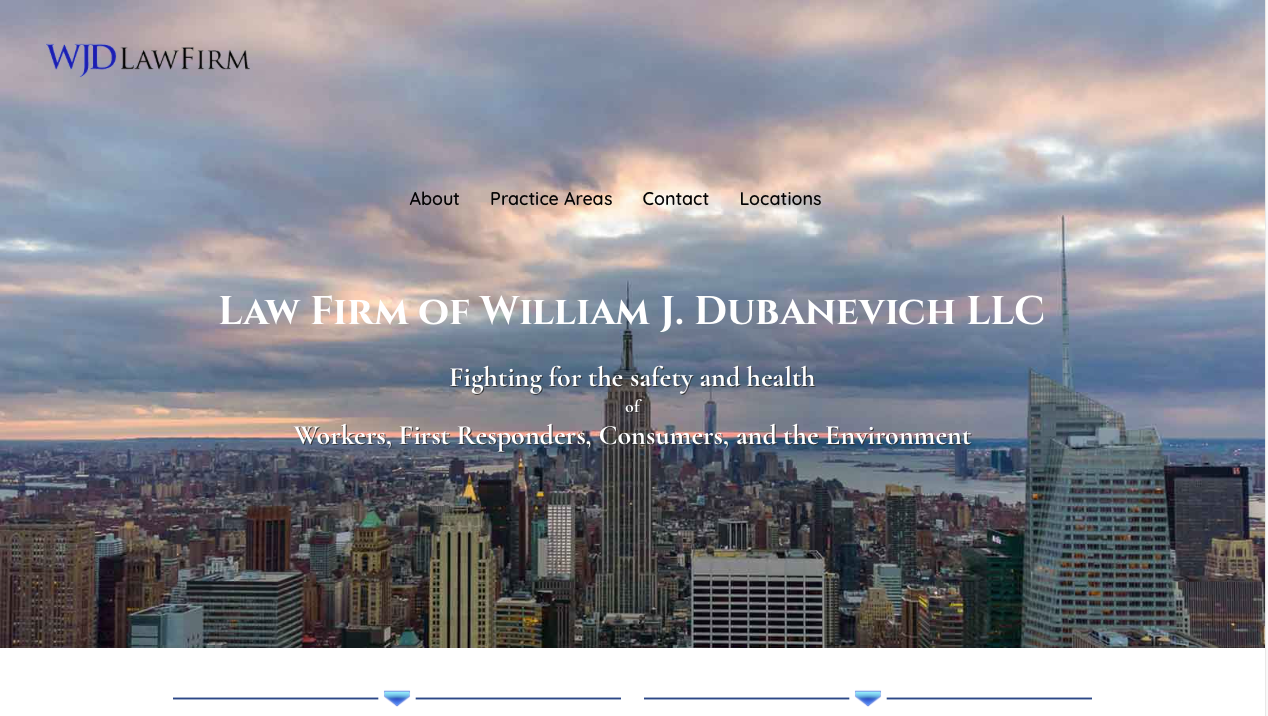 William J Dubanevich Law Firm Website