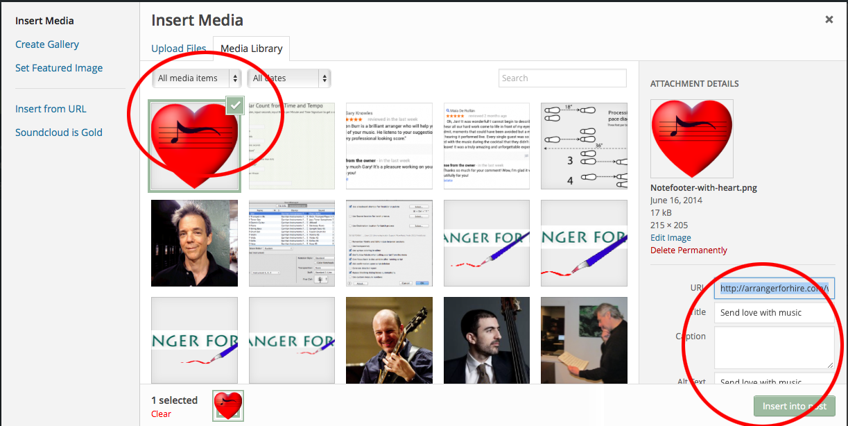 When an image is selected, the metadata editor appears