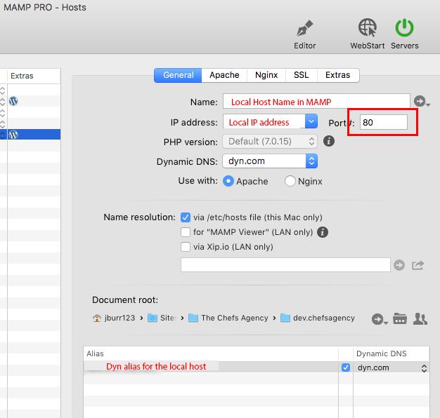 Publish | Mac Dev Site | Wordpress | MAMP Pro | Linksys