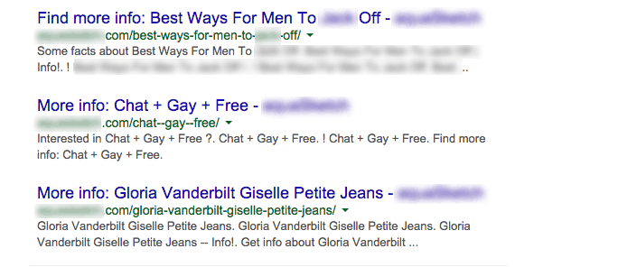 Bad Results in a Search Engine Results Page