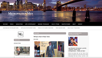 Metropolitan Men Website