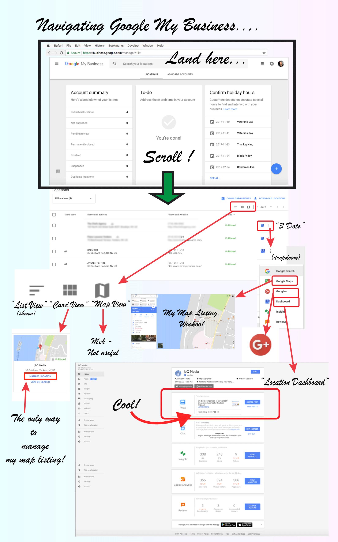 Google My Business Navigation map