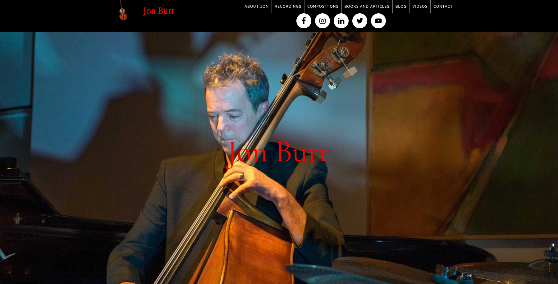 jonburr.com screenshot