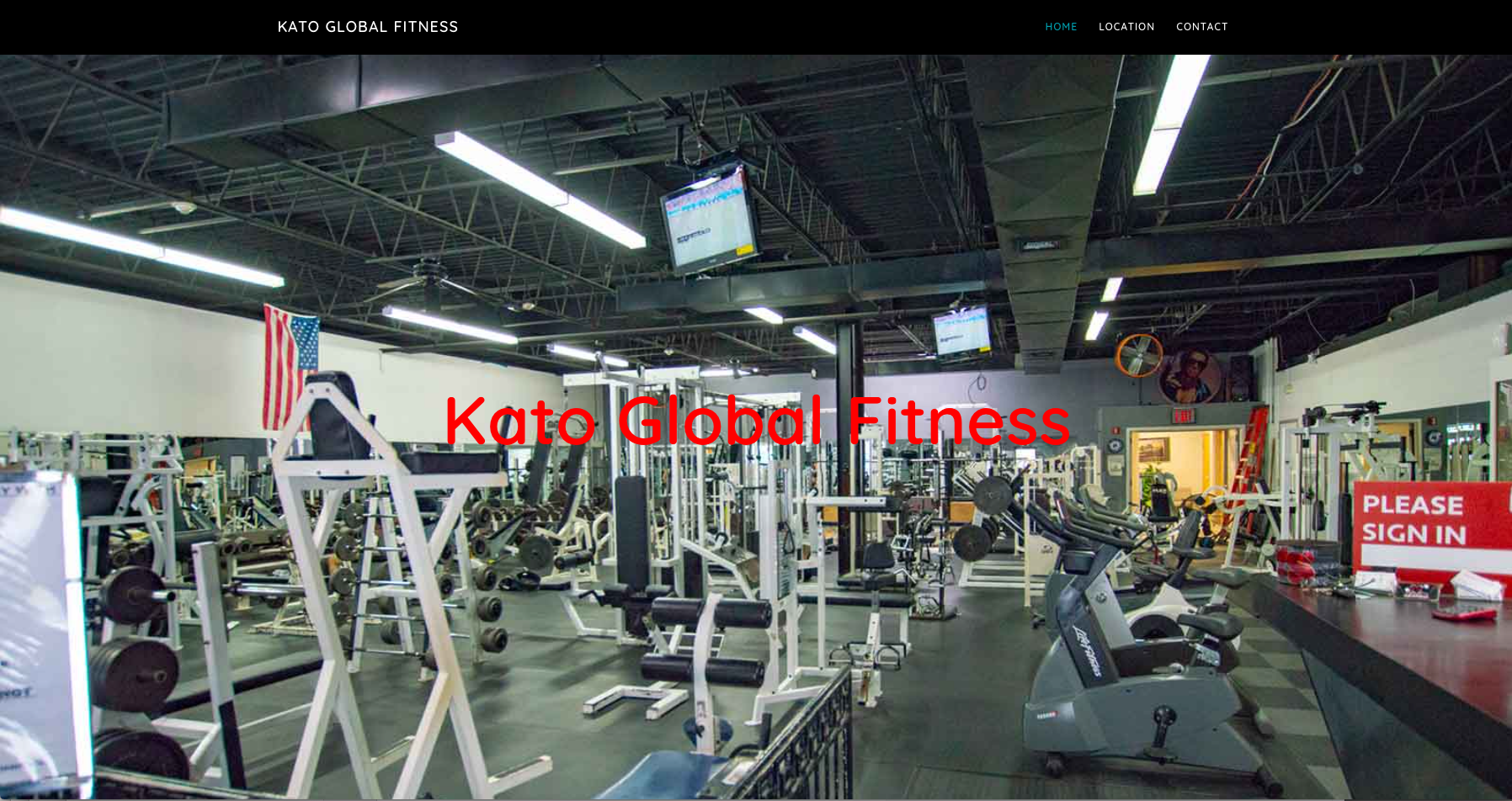 Kato Global Fitness Website
